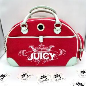 Vintage Juicy Couture Pet Carrier
